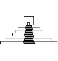 mayan pyramid isolated icon vector image