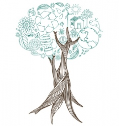 peace tree vector image vector image