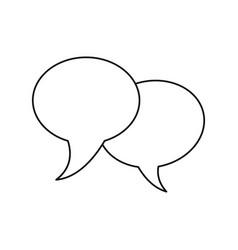 bubble speech communication dialog thin line vector image