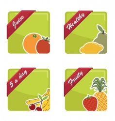 fruit squares vector image