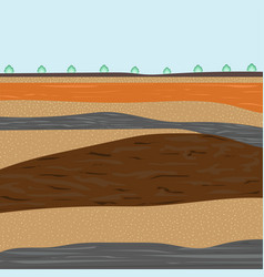 Layers of soil for construction vector