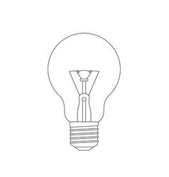 light bulb sketch vector image vector image