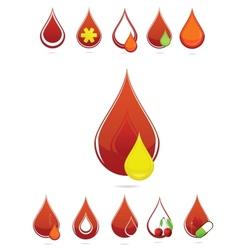 medic blood drops set vector image vector image