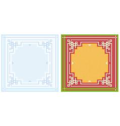 napkin design pattern vector image