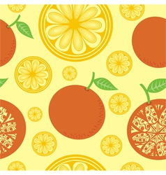 Orange seamless pattern background vector image vector image