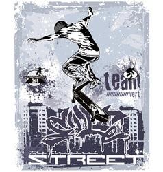 vert team skater vector image