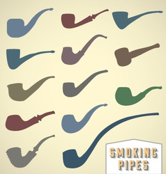 Vintage Smoking Pipes Collection vector image