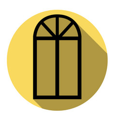 window simple sign flat black icon with vector image vector image