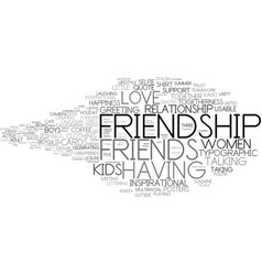 friendship word cloud concept vector image vector image