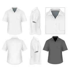 Mens button down shirt design template vector image