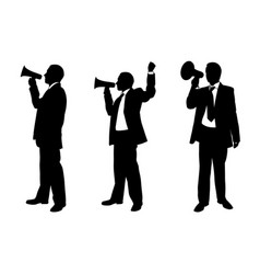 set of people with megaphones vector image