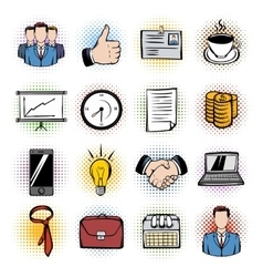 Business comics icons vector