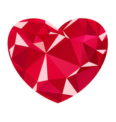diamond heart icon vector image vector image