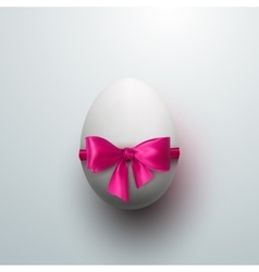 Easter Egg With Pink Bow vector image