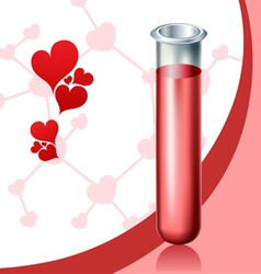 Love chemistry vector image vector image