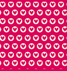 Seamless pattern with pink hearts repeating vector