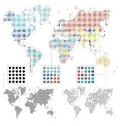 Set of world maps vector image