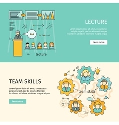 Team Skills and Business Lecture Banners vector image