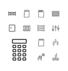13 panel icons vector