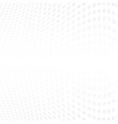 abstract halftone of gray curve polka dots vector image