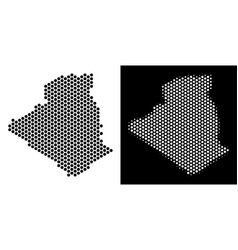 Algeria map hex-tile scheme vector