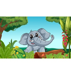 An elephant in the forest vector