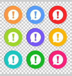 attention icon in flat style isolated on isolated vector image