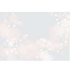 background with beautiful snow vector image