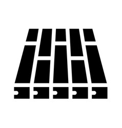 Batten floor glyph icon vector