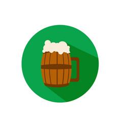 beer barrel glass flat icon vector image