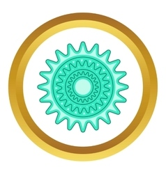 Bicycle sprocket icon vector