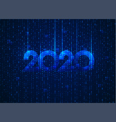 binary2020 vector image