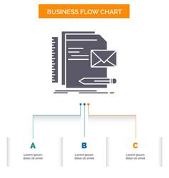 brand company identity letter presentation vector image