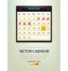 Calendar vector
