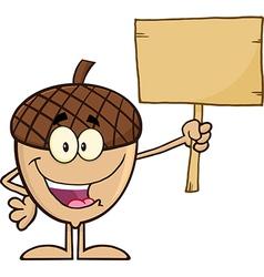 Cartoon acorn vector image