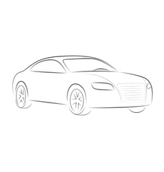 cartoon silhouette of a car vector image