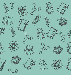 chemical industry concept icons pattern vector image
