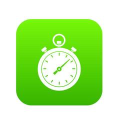 chronometer icon digital green vector image
