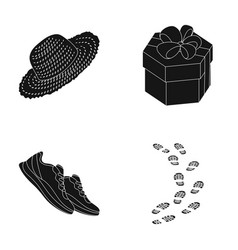 Clothing gift and other web icon in black style vector