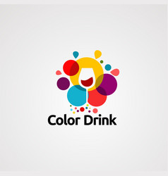 color drink logo icon element and template vector image