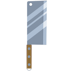 colorful cartoon bbq knife vector image