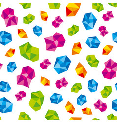 colorful precious gems jewels vector image