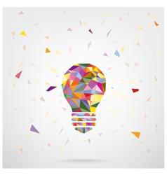 Creative light bulb Idea concept vector