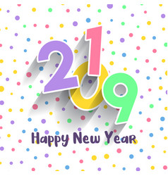 cute happy new year design vector image