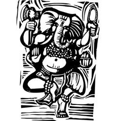 Dancing ganesha vector
