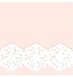 Decorative lacy border vector