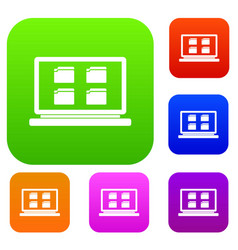 desktop set collection vector image