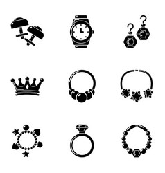 Eardrop icons set simple style vector