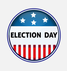 Election day usa pin vector