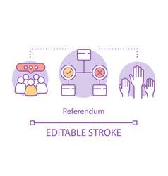 Elections concept icon referendum idea thin line vector